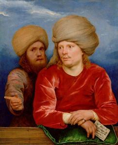 Dubbelportret van François Deydier (1637-1693) en een onbekende man