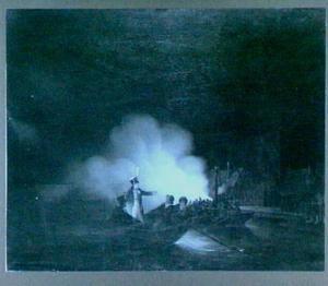 De overtocht van Matthijs Beelaerts, commandant van de Nationale garde, naar Papendrecht in de nacht van 22 november 1813