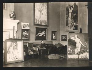 De schilder Kees van Dongen in zijn huis