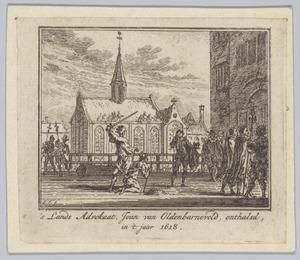 De onthoofding van Johan van Oldenbarnevelt (1547-1619)