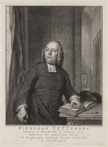 Portret van Nicolaas Tetterode (1715-1773)