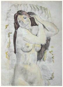 Greet naakt (detailstudie voor 'De badkamer')