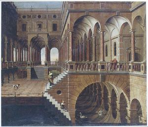 Interieur van een fantasie-paleis