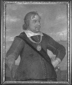 Portret van Luitenant-Admiraal Egbert Meeuwisz, Kortenaer (1604-1665)