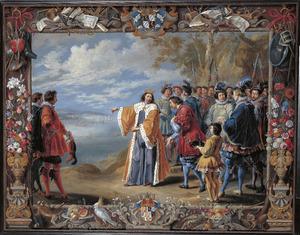De verheffing van Guglielmo Raimondo Moncada graaf van Augusta tot baron van Cerbellio en San Vincenzo