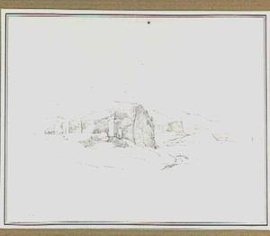 Heuvellandschap met bebouwing in de omgeving van Rome