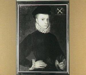 Portret van een Arnold Hoeufft (ca. 1564-1628), op 16-jarige leeftijd