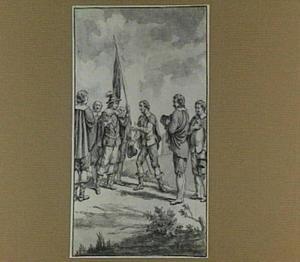 Onderhandelende figuren (ongeïdentificeerde historische scène?)