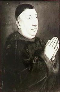 Portret van een onbekende biddende man