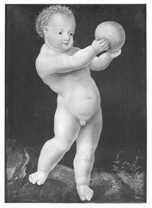 Naakte jongen met wereldbol