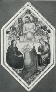 Christus als man van smarten met Maria, Johannes de Doper en Maria Magdalena