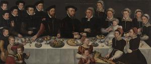 Portret van Pierre de Moucheron (1508-1567), Isabeau de Gerbier (1508-1568) en hun familie