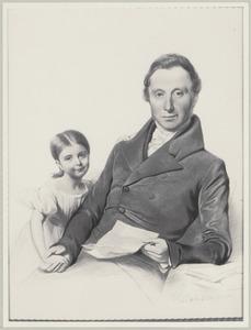 Dubbelportret van Lambert Johan Arend van Eck (1793-1867) en zijn dochter Charlotte Amelie van Eck (1828-1911)