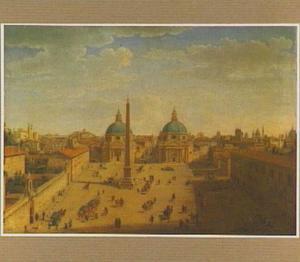 Gezicht op de Piazza del Popolo te Rome