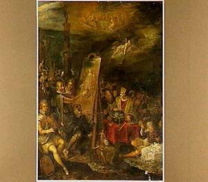Allegorie op de overwinning van kunsten en wetenschappen