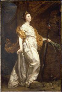 De H. Barbara (in spiegelbeeld)
