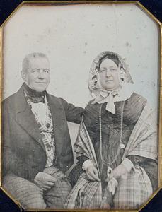 Portret van Henrick Backer (1792-1846) en Wilhelmina Cornelia Dedel (1792-1850)