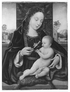 Maria met wijndrinkend kind