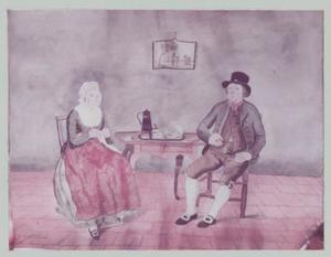 Dubbelportret van een onbekend echtpaar