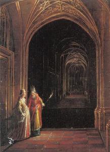 De nachtelijke ontmoeting van Ester en Mordechai (Ester 2:22)