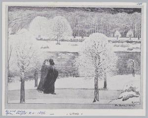 Twee vrouwen in een winterlandschap