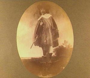 Portret van een man in een landschap