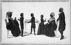 Portret van de familie van Willem Anne Baron van Spaen la Lecq (1750-1817) en Anna Bentinck (1757-1818)