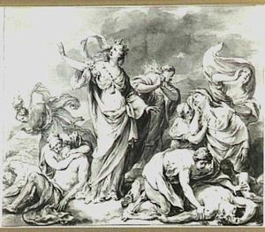 Niobe treurt om haar zonen (Metamorphosen 6:146-203)