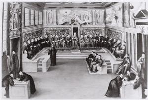 Ambassadeur Cornelis van der Mijle (1579-1642) op audiëntie bij de doge van Venetië in 1609