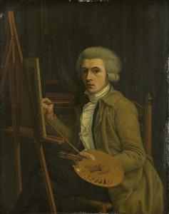 Portret van een schilder, vermoedelijk de kunstenaar zelf