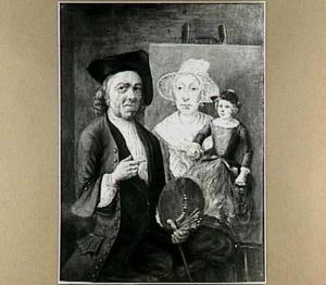 Zelfportret met vrouw en kind