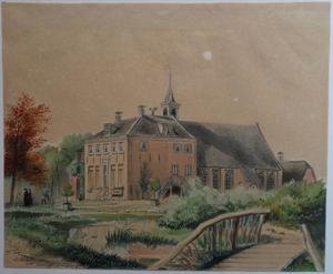 De oude Rooms-katholieke kerk op het Hoog te Vleuten