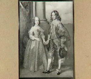 Dubbelportret van Willem II van Oranje-Nassau (1626-1650) en Henriette Maria Stuart I (1631-1661)