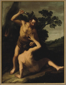 Kaïn slaat Abel dood