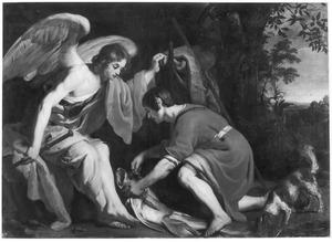 Tobias ontleedt de vis op aanwijzing van de engel
