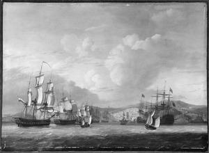 Aankomst van het Nederlands eskader ter rede van Algiers, 27 augustus 1816