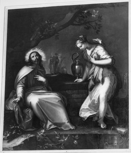 Christus en de Samaritaanse vrouw bij de bron (Johannes 4:7-27)
