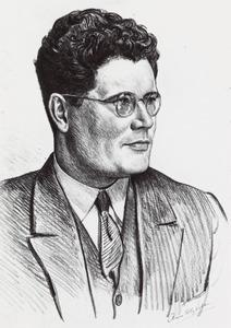 Portret van Jacob Maarten van Bemmelen (1898- )