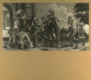 De ontmoeting van Abram [Abraham] en Melchisedek, de hogepriester-koning van Salem  (Genesis 14:18-24)