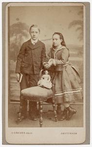 Portret van Maurits van Vollenhoven (1860-1885) en Anna van Vollenhoven (1862-1924)