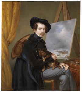 Zelfportret van Louis Meijer (1809-1866)