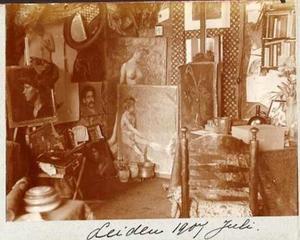 Atelier van Gorinne Smit (1883-1956) in Leiden