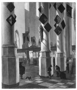 Gezicht in de Oude Kerk te Delft