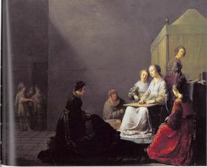 Tarquinius Collatinus en zijn metgezellen vinden Lucretia