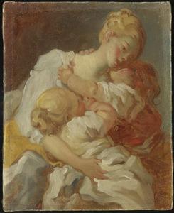 De kus van de moeder