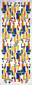 Kleurontwerp voor schoorsteenstuk