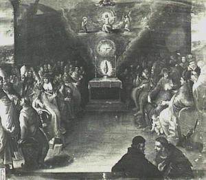 De aanbidding van de Eucharistie