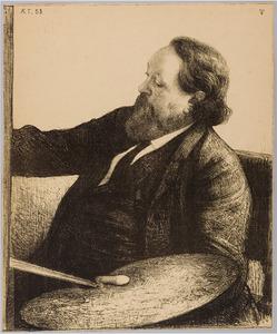Portret van de schilder Jacob Maris