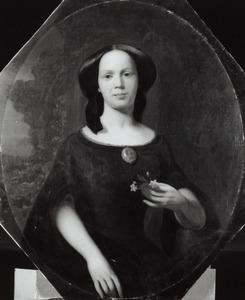 Portret van Agatha Maria van Olst (1827-1878)