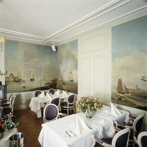 Kamer met geschilderde behangsels